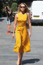 Ashley Roberts in a Mustard Yellow Midi Dress 06/02/2020