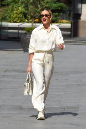 Ashley Roberts in an All-Cream Ensemble 06/16/2020