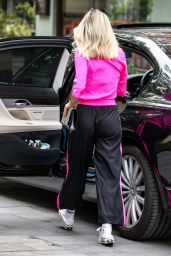 Ashley Roberts in Hot Pink Blouse and Classic Silk Joggers 06/12/2020