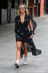 Ashley Roberts in Striking Black Mini Dress 06/04/2020