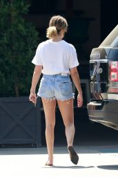 Ashley Tisdale Leggy in Jeans Shorts - West Hollywood 06/22/2020