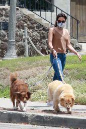 Aubrey Plaza - Takes Her Dogs For a Walk in Los Feliz 06/06/2020