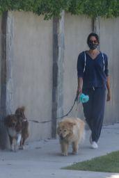 Aubrey Plaza - Walking Her Dogs in LA 06/13/2020
