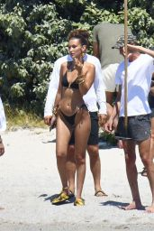 Bella Hadid in a Bikini - Photoshoot at the Beach in Corsica 06/24/2020