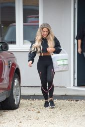 Bianca Gascoigne - Outside Her House in North London 06/17/2020