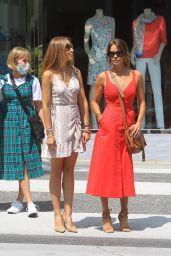 Brooke Burke in a Red Midi Dress - Beverly Hills 06/17/2020