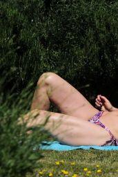 Caprice Bourret in a Bikini in a Park in London 05/31/2020