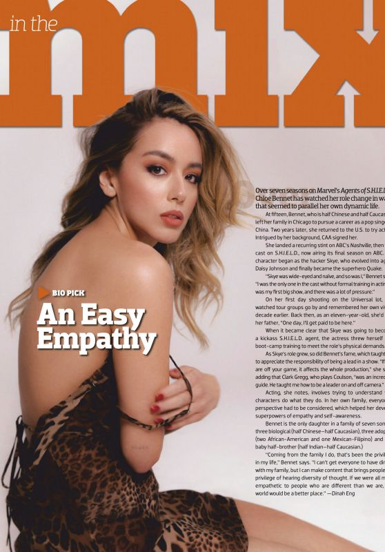 Chloe Bennet - Emmy Magazine July 2020 Issue