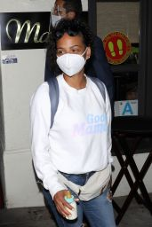 Christina Milian at Madeo Restaurant in Beverly Hills 06/17/2020