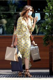 Cindy Crawford in a Chic Yellow Dress - Malibu 06/24/2020