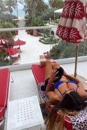 Claudia Romani at the Faena Hotel SPA Deck 06/24/2020