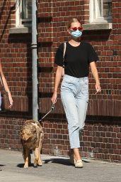 Daphne Groeneveld - Walks Her Dog in New York City 06/24/2020