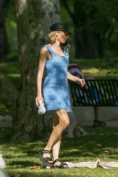 Diane Kruger in a Blue Dress - Beverly Hills 06/23/2020