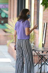 Eiza Gonzales in Purple Crop Top - Getting Coffee in Los Angeles 05/30/2020