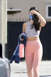 Eiza Gonzales in Tights and Black Low-Rise Converse Sneakers  Out in Los Angeles 05/31/2020
