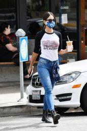Eiza Gonzalez in a Baseball T-Shirt - Getting Coffee in LA 06/06/2020