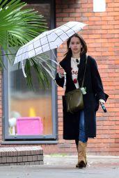 Emilia Clarke - Walking Her Dog in London 06/10/2020