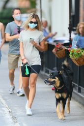 Emily Ratajkowski - Walking Her Dog in NYC 06/30/2020