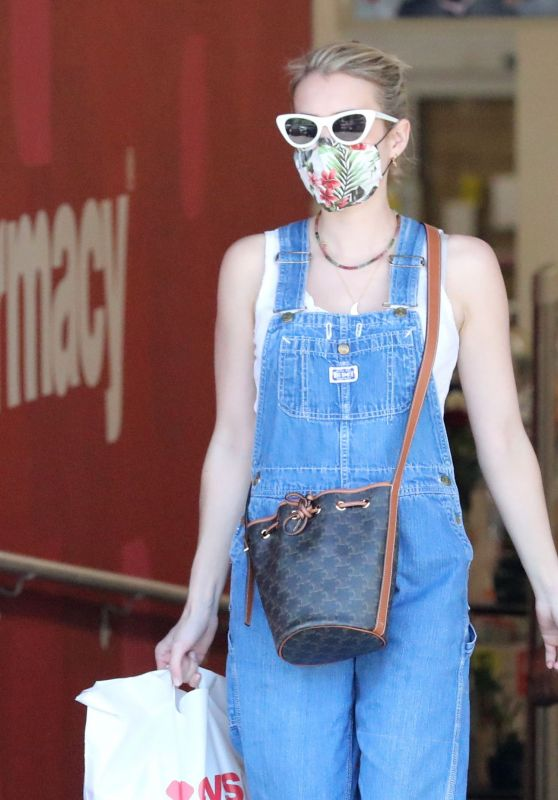 Emma Roberts in Street Outfit - Leaving CVS in Studio City 06/15/2020