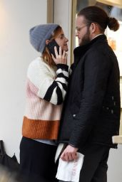 Emma Watson - Kissing Her Boyfriend Leo Robinton 04/24/2020