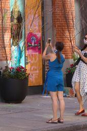 Famke Janssen in Summer Dress - Out in NYC 06/13/2020