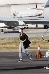Hailey Bieber - Arrives Back in LA 06/27/2020