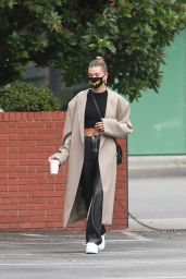 Hailey Bieber Chic Style - Blue Bottle Cafe in Beverly Hills 06/28/2020