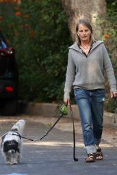 Helen Hunt - Walking Her Dogs in Pacific Palisades 06/28/2020