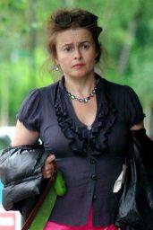 Helena Bonham Carter in a Ruffled Blouse and Pink Skirt 06/08/2020