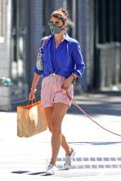 Helena Christensen - Walking Her Dog in NYC 06/14/2020