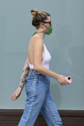 Ireland Baldwin in Fitted Tank Top and Denim 06/02/2020