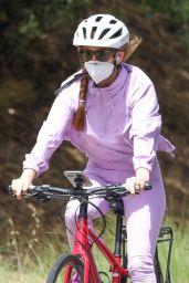 Isla Fisher - Riding Her Bike in LA 06/29/2020