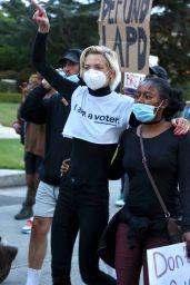 Jaime King - Protest in Hancock Park in LA 06/02/2020