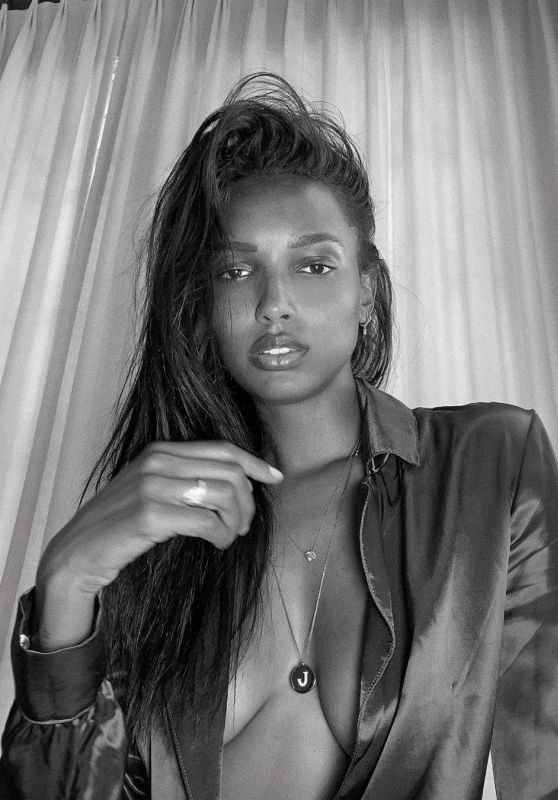 Jasmine Tookes - Black and White Photoshoot