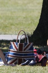 Jenna Coleman - Out For a Picnic in London 06/25/2020