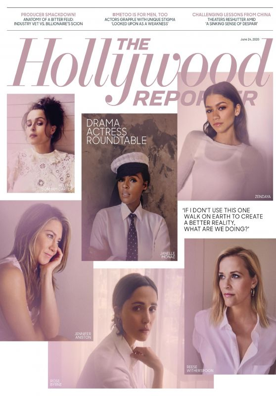 Jennifer Aniston, Zendaya, Reese Witherspoon and Helena Bonham Carter - The Hollywood Reporter 06/24/2020