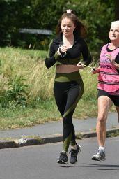 Jess Impiazzi - Jogging in Surrey 06/16/2020