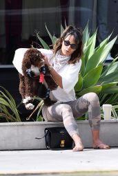 Jordana Brewster - Out in Brentwood 06/17/2020