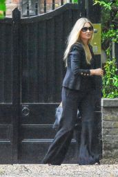 Kate Moss in a Flared Black Trousers and Jacket 06/17/2020
