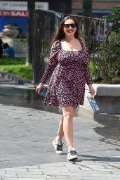 Kelly Brook in Summer Dress in London 06/25/2020