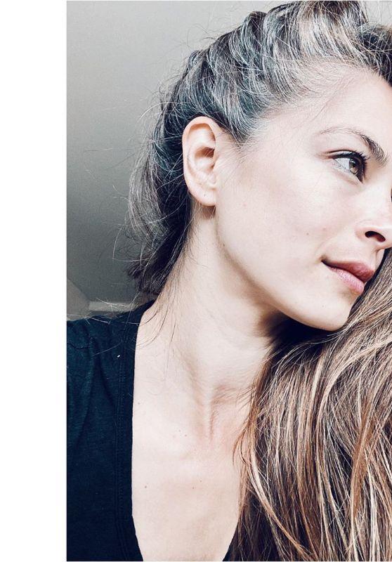 Kristin Kreuk - Gray Hair in Self-Portrait, May 2020