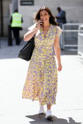 Kym Marsh in Yellow Print Dress 06/22/2020