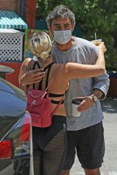 Lady Gaga Wearing Strappy Bra-Top - Grabs Morning Coffee in Hollywood 05/30/2020