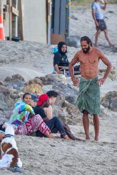 Lais Ribeiro - With Her Fiancé in Malibu 06/09/2020