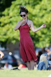 Lily James - Sunbathing in London 06/25/2020