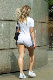 Lottie Moss in White Playsuit Out in London 06/01/2020