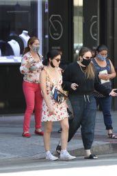 Lucy Hale in Summer Mini Dress - Jewelry District in LA 06/10/2020