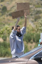 Madison Beer - Peaceful Protest in Malibu 06/03/2020
