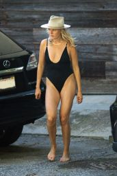 Malin Akerman in a One Piece Bathing Suit, April 2020