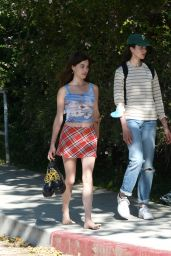 Margaret Qualley and Rainey Qualley – Walking in Hollywood 06/13/2020